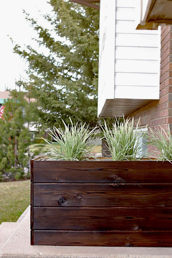 How To Make A Diy Modern Planter Box For Under 40 Curb Appeal