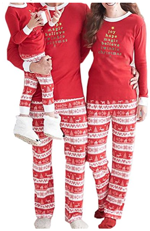 couples matching christmas pajamas - 504×776