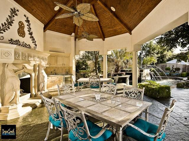 This is an outdoor summer kitchen we designed and built for clients ...