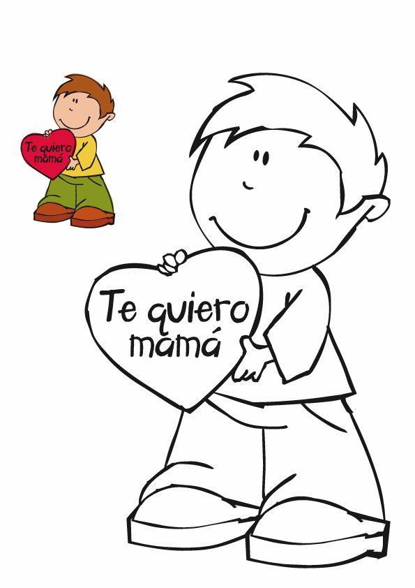 Te Quiero Mama Dibujos Del Dia De Las Madres Hojas Para