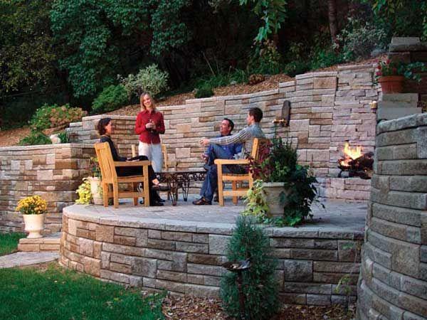Celebrate the outdoors | Sloped backyard, Backyard hill ...