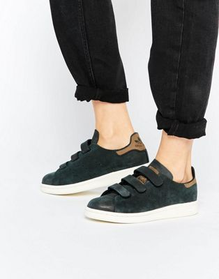 premium selection 0021f d1f21 Adidas Stan Smith Black Leather Womens – Fashionsneakers.club