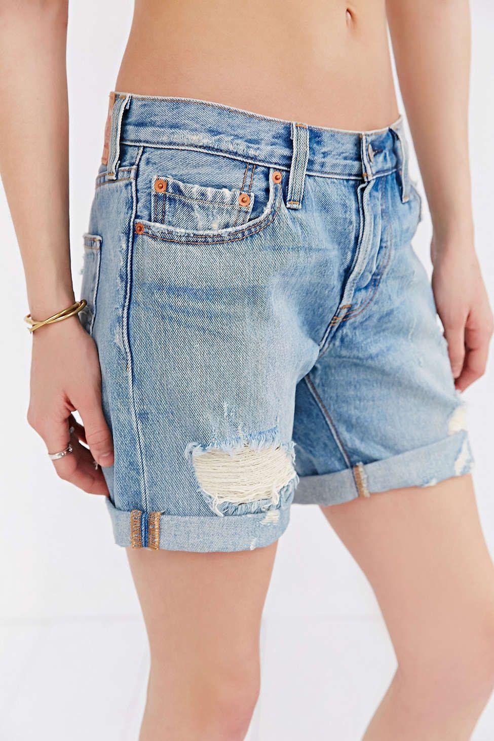 acd9ffa3 Levis 501 Long-Hem Jean Short - Urban Outfitters | #UODenim | Hem ...