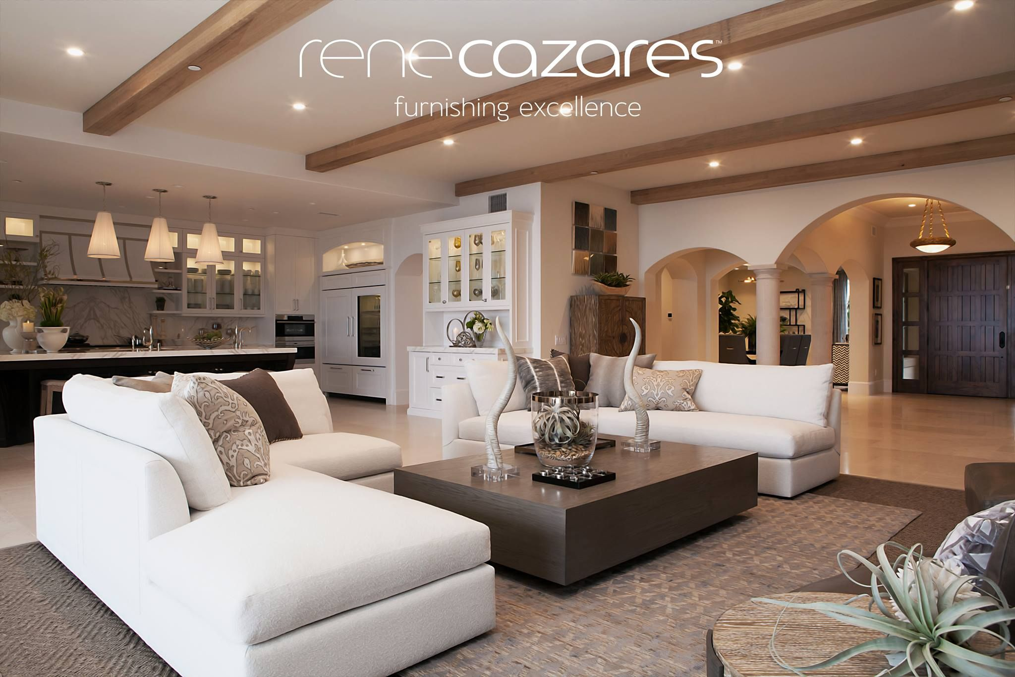 White sectionals Living room Rene Cazares | Living room ...