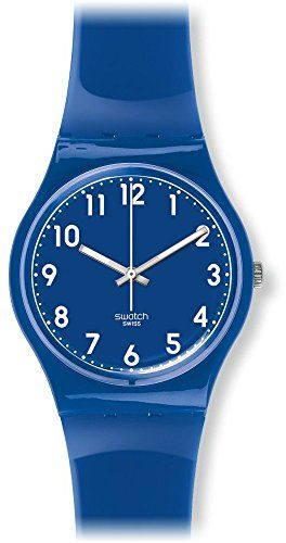 Unisex Watch Gn238 Classic Analog Quartz Swatch Swiss Blue Display vN8wm0On