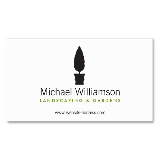 Landscaping gardening topiary logo business card lawn care classic topiary landscaping lawn care gardening business card template 100 customizable wajeb Image collections