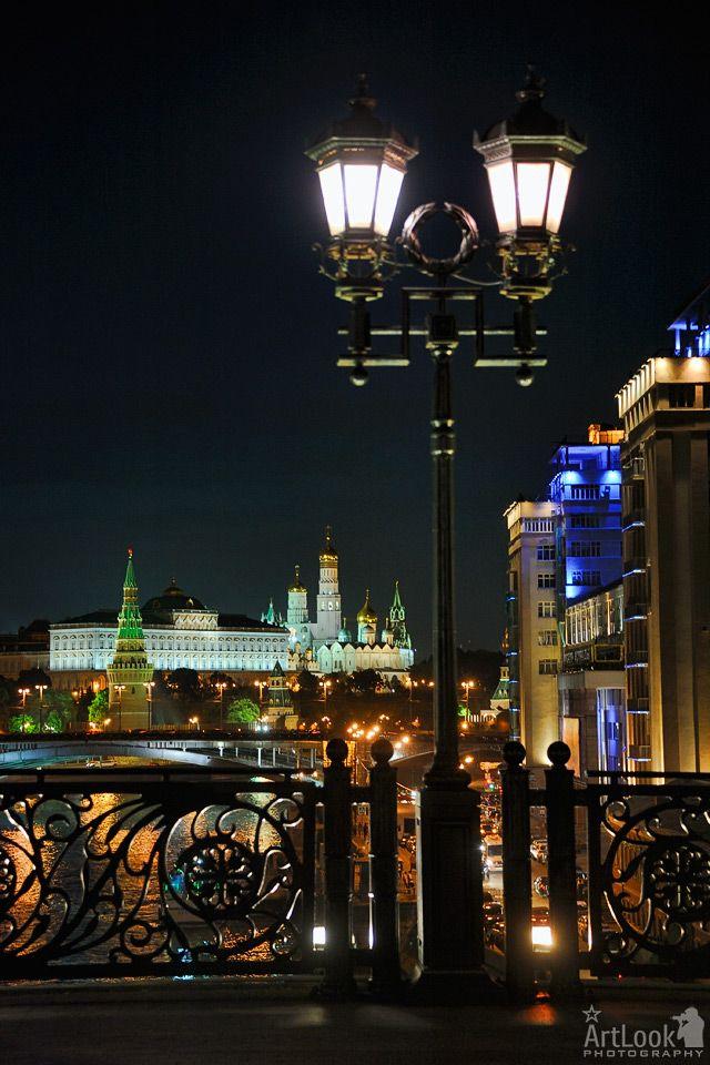 Картинки ночных фонарей в москве