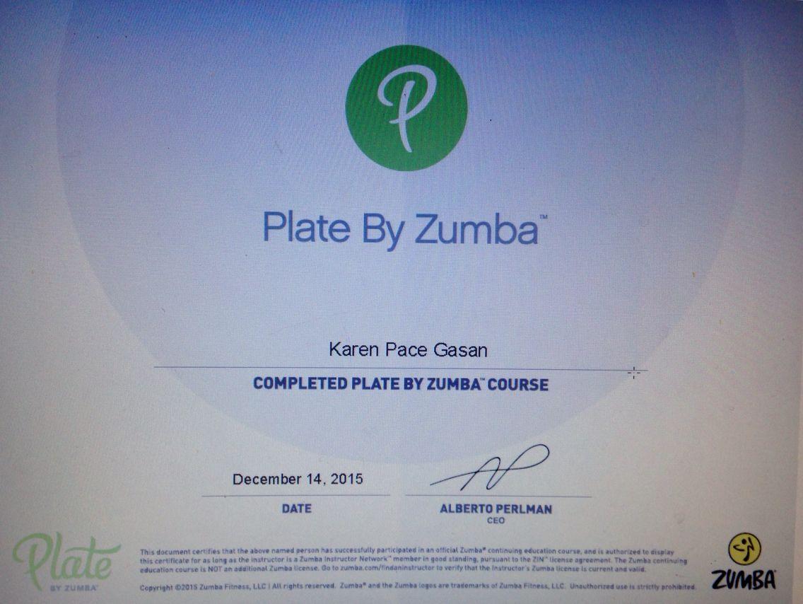 Yoooohoooo Im Officially A Platebyzumba Coach Zumbamumkaren