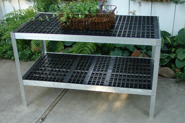 225 One 24 X 48 Two Tier Greenhouse Bench Free Shipping Garden