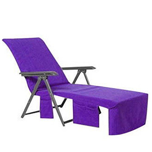 Beach Chair Wisehome Sun Lounger Mate Towel Carry Pockets Bags Holiday Garden Thicker Lounge Purple Beachchair