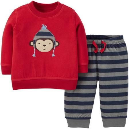 Child Of Mine by Carter's Newborn Baby Boy Top and Pants Outfit Set - Walmart.com