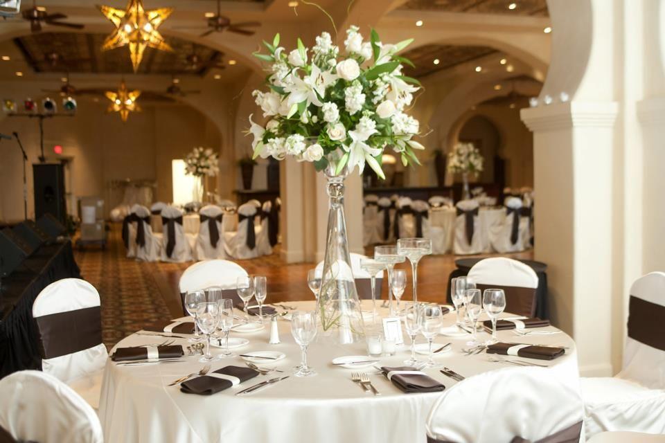 Baraka ballroom set for another reception lake las