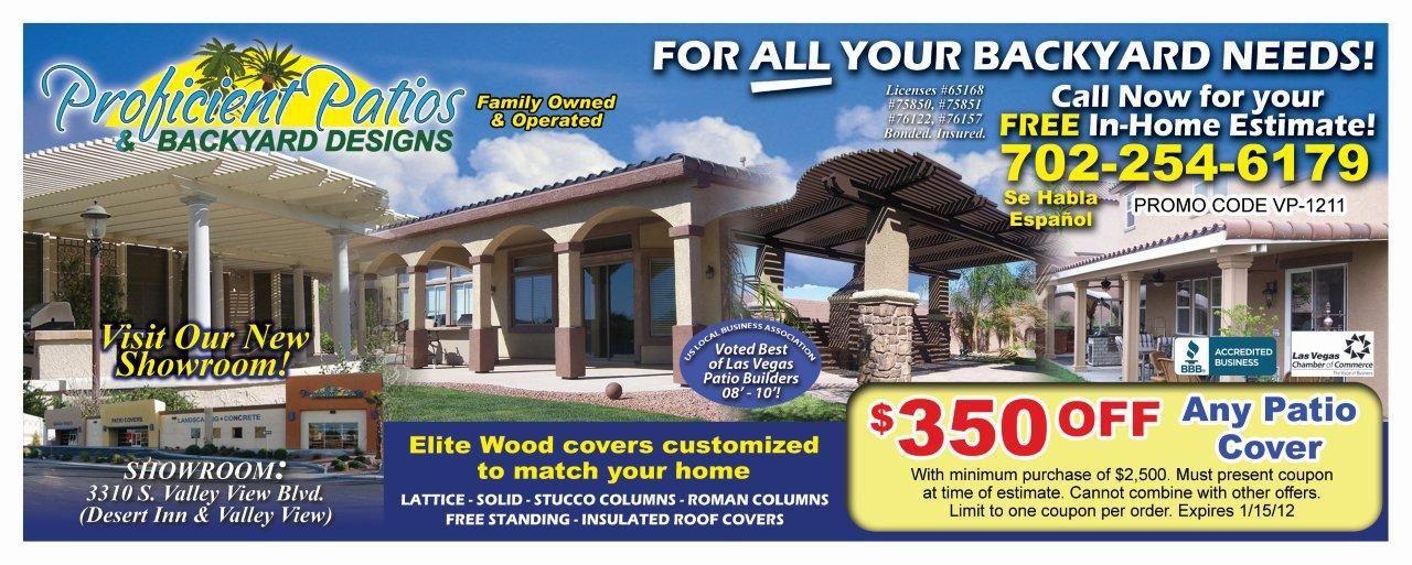 Valpak Ad For Proficient Patios Las Vegas Backyard Design Wood Cover Home Estimate