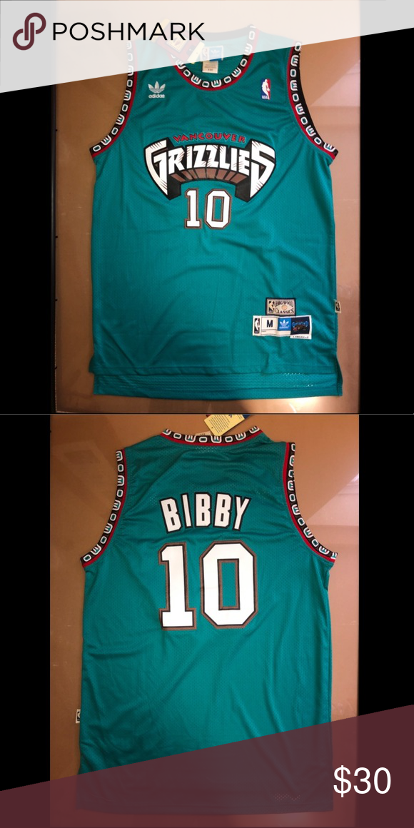 32aab2e4174 Mike Bibby Vancouver Grizzlies Jersey Size M Size Medium Brand New with  Tags Any questions feel free to ask any questions! adidas Shirts