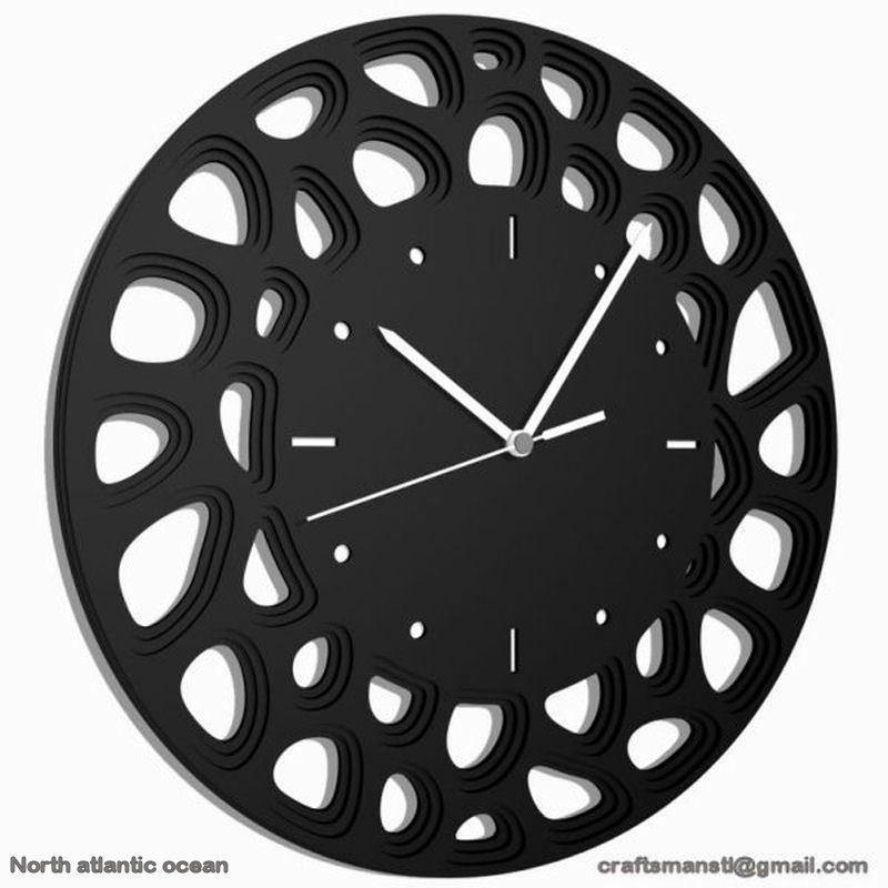 Dxf File Cnc Laser Cutting Vectors Plans Artcam Stl Aspire Clock16