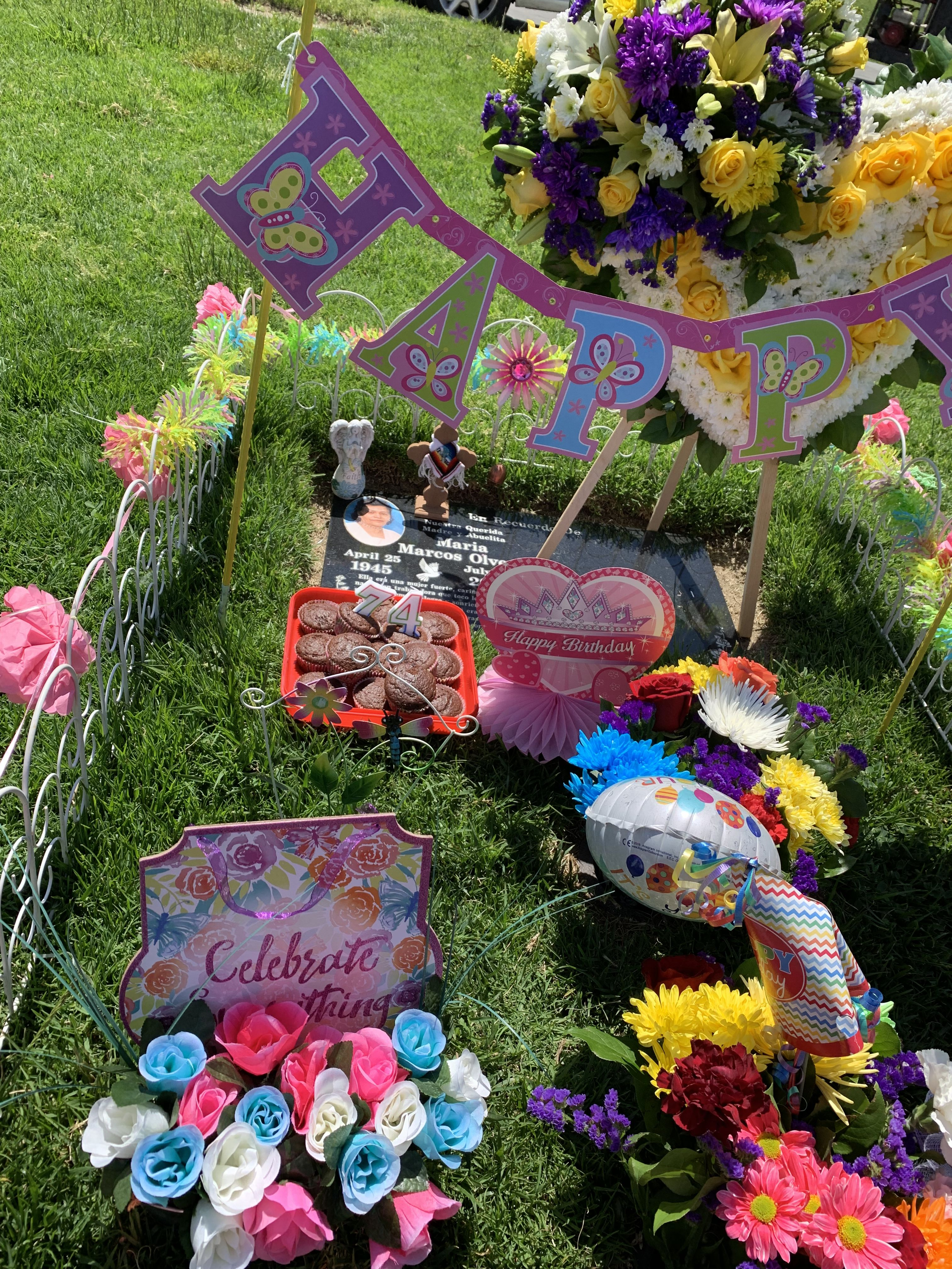 April 25, 2019 Cemetery decorations, Grave decorations