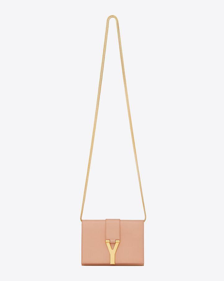 Saint Laurent Classic Small Y Satchel In Blush Leather  780143fefa36c