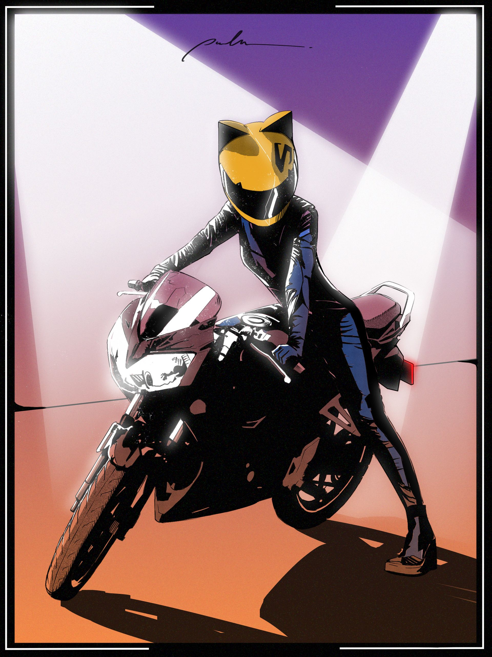 Anime Art Anime Motorcycle Motorcycle Drawing Motorbike Art