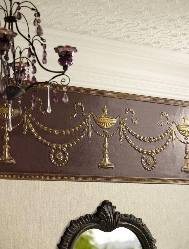 Tapeten Bordüren Wohnzimmer am besten Büro Stühle Home Dekoration ...