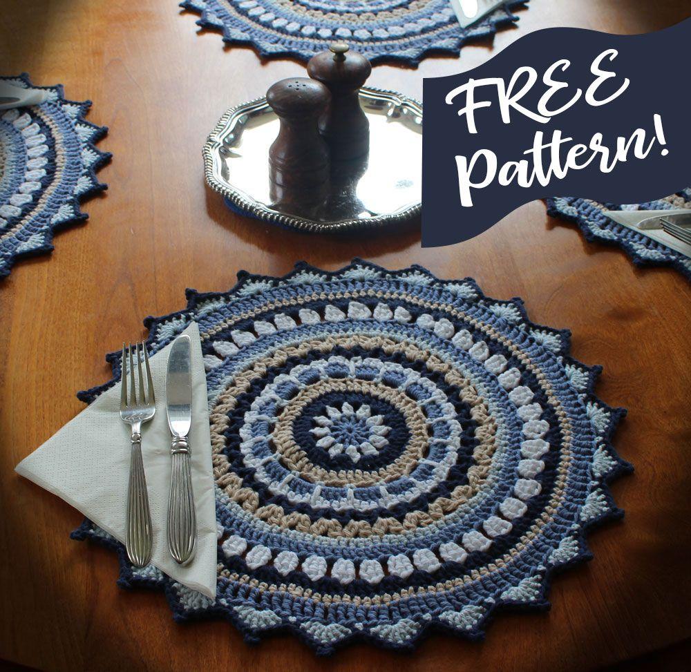 Free Mandala Placemat Pattern Placemats Patterns Crochet Placemat Patterns Crochet Mandala Pattern