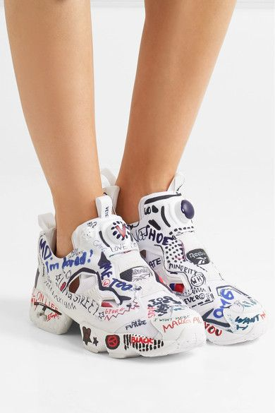 Vetements | + Reebok Instapump Fury printed neoprene and