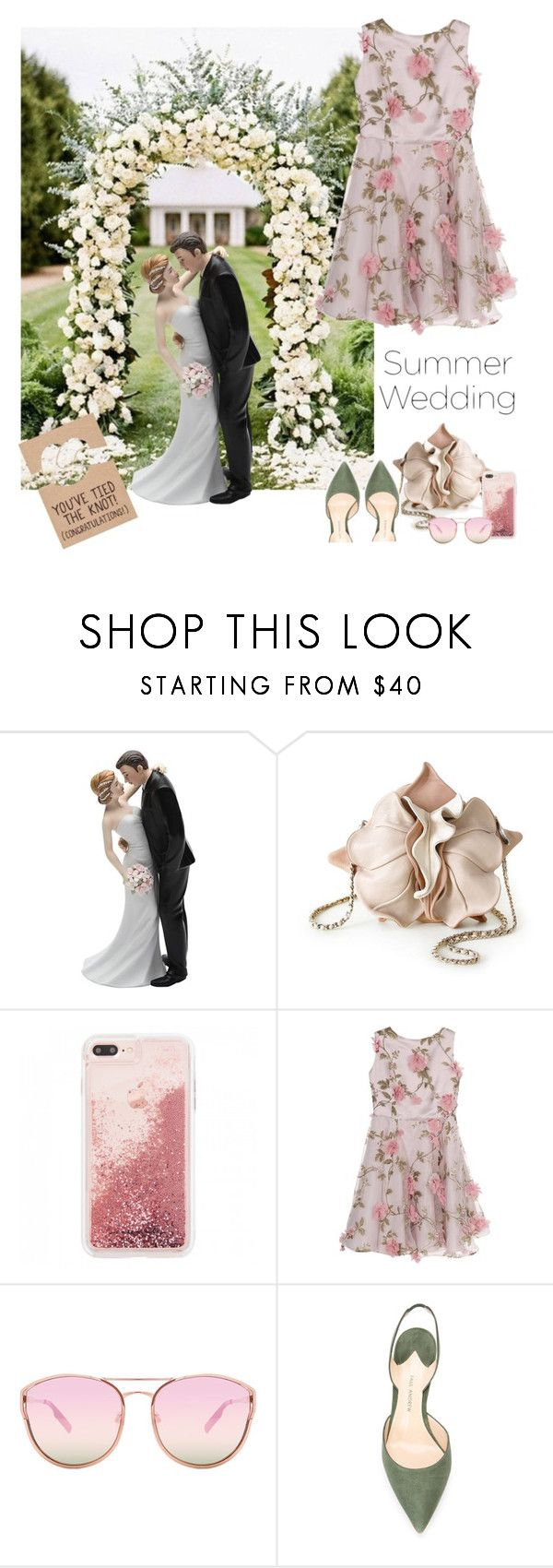 """Summer Wedding"" by petalp ❤ liked on Polyvore featuring Little Wardrobe London, Quay, Paul Andrew and wedding"