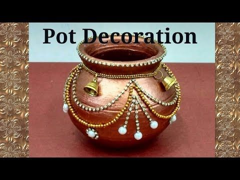 Pot Decoration Kalash Decoration Navratri Diwali Special