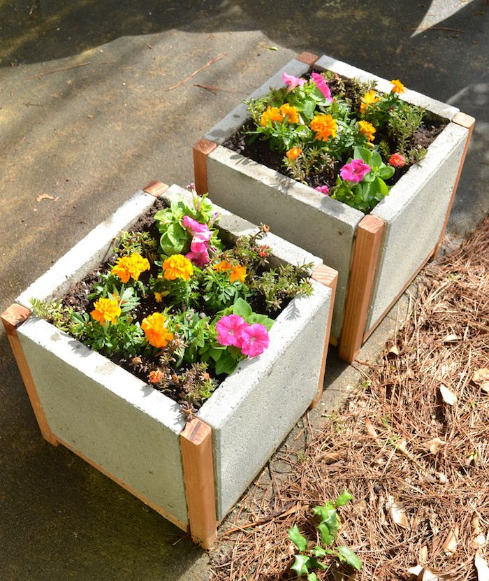 Diy Flower Gardening Ideas And Planter Projects: Build A Paver Planter The Easy Way!