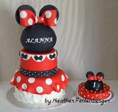 Heather S Cakery 1st Birthday Cake Minnie Party Cake