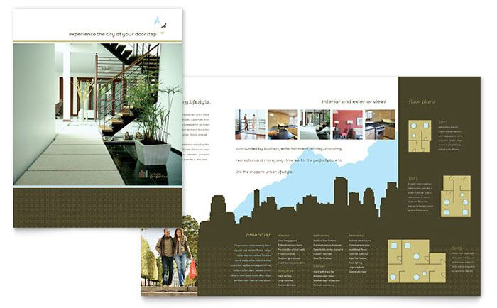Urban Real Estate Brochure Design Template by StockLayouts Work - interior design brochure template