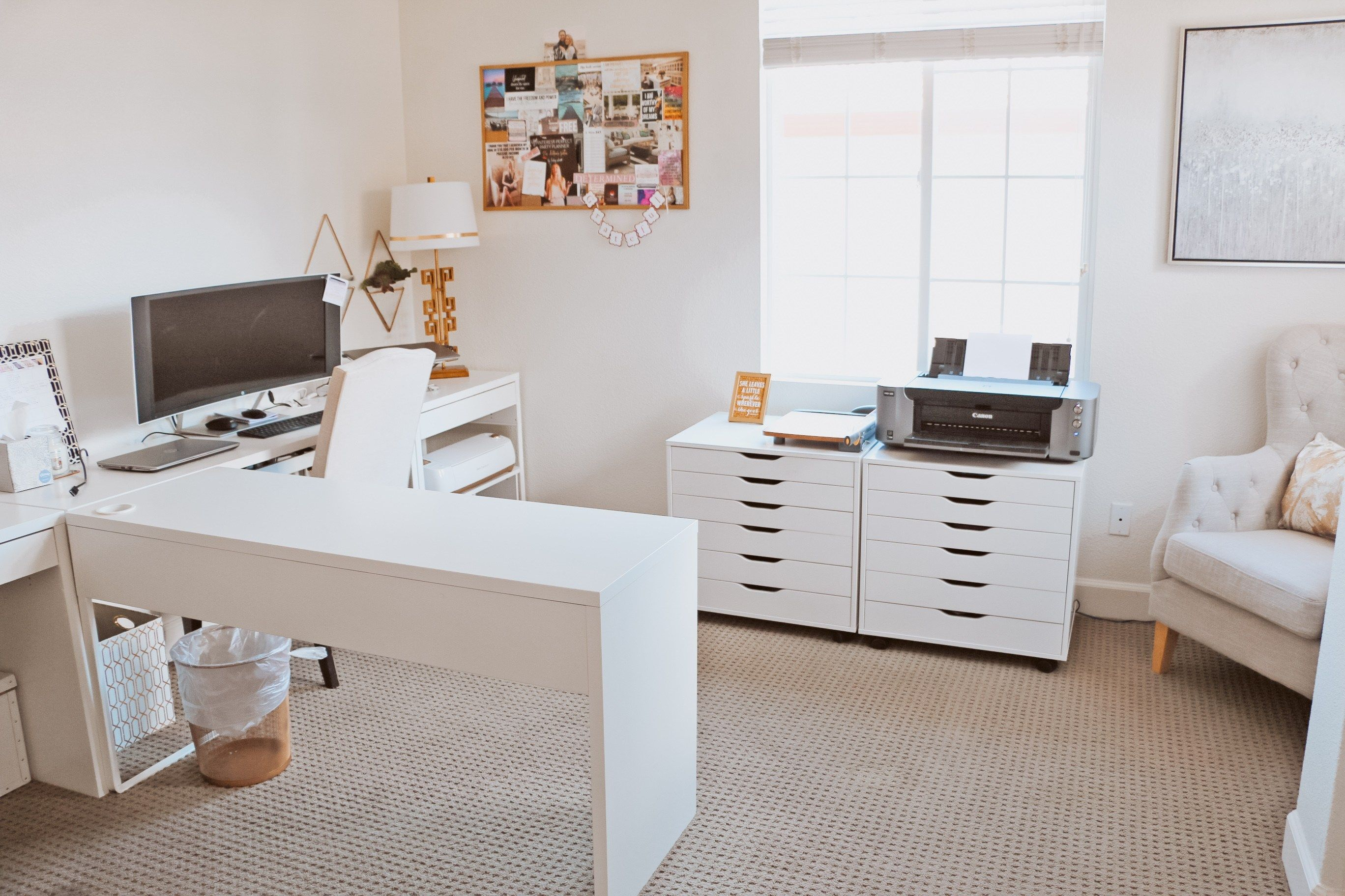 The Best Cricut Setup For Your Office Ikea Home Office Office Ideas For Work Ikea Office