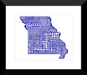 Missouri Print - MapMyState.com
