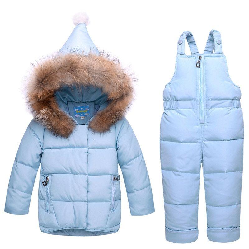99c4892c1 BibiCola winter girls clothing sets casual down jackets kids girls ...