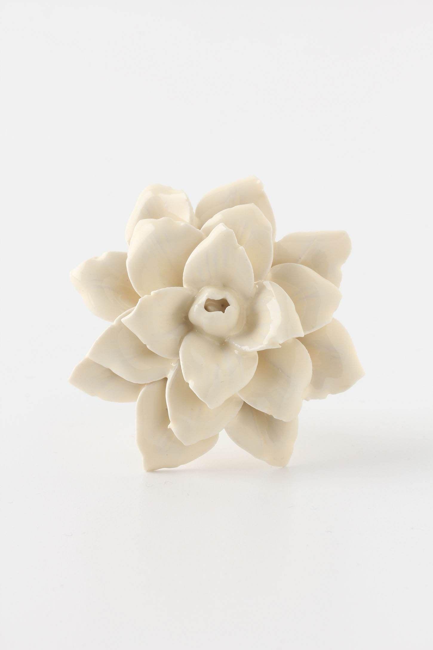 Linen Flower Knob Dresser Knobscabinet