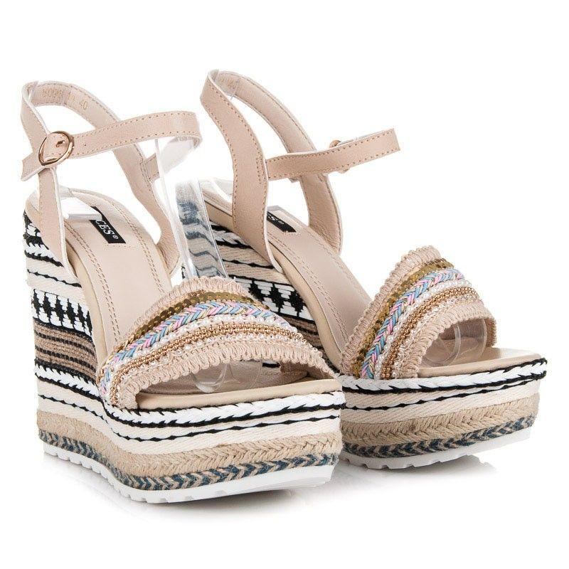 8013ba5d5423d Sandále na vysokej platforme 6096-14BE | Dámske sandále ...