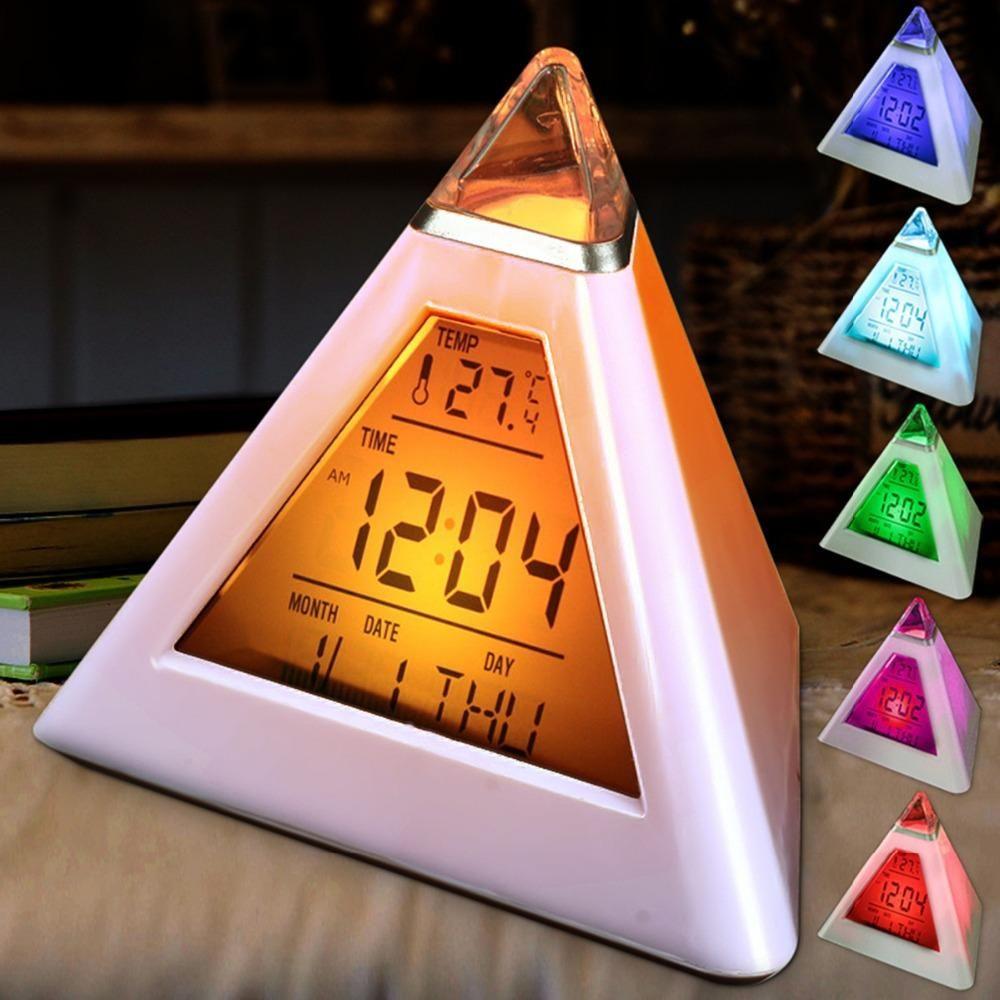 Color digital clock alarm clock led alarm clock