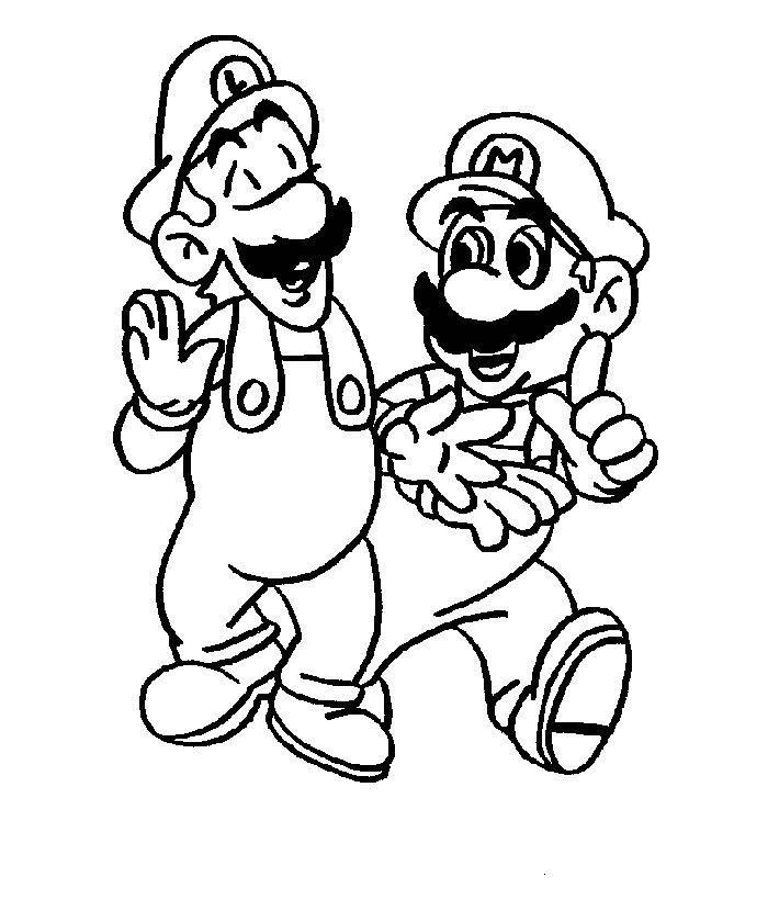 Lock Screen Coloring Mario And Luigi Coloring Pages To Print For ...