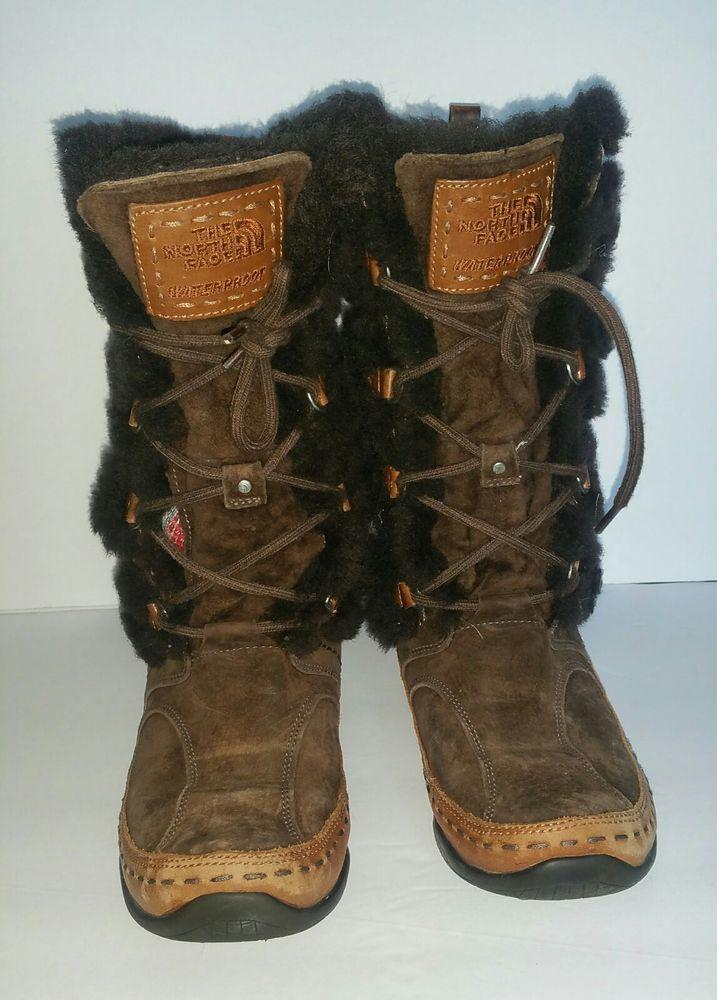 6ccc49a5f NEW North Face Womens Primaloft Waterproof Winter Ski Boots Sz 6.5 ...