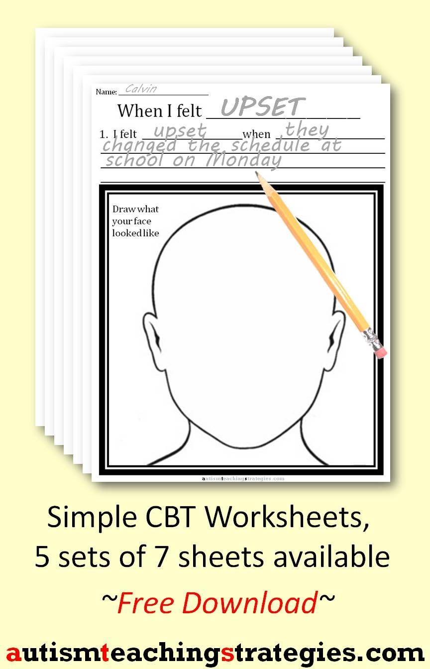 worksheet Cbt E Worksheets i created these simple cbt worksheets to use along with my other resources the