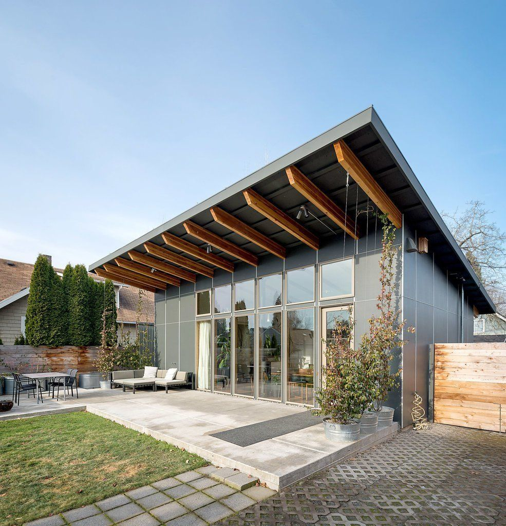 How Much Does It Cost To Convert A Shipping Container Into A Home How Much Can You Build A Tiny House For In 2020 House Roof House Shed Homes