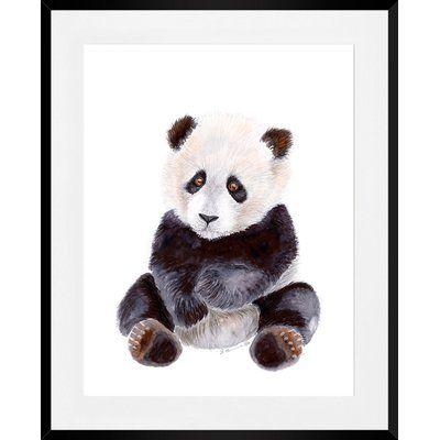 Oopsy Daisy Baby Panda Portrait Framed Art | Wayfair #babypandas