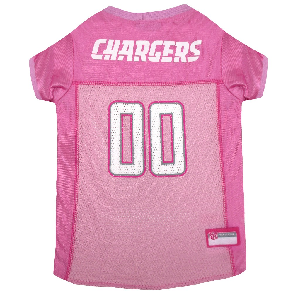 6410554d8 Los Angeles Chargers Pets First Pink Pet Football Jersey - Pink XS ...