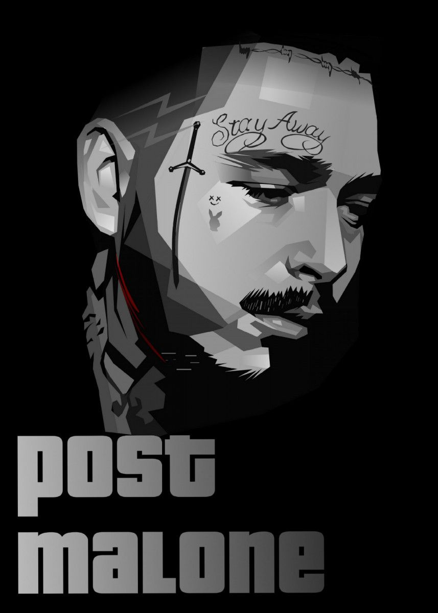 Post malone poster by hafis hafis displate post