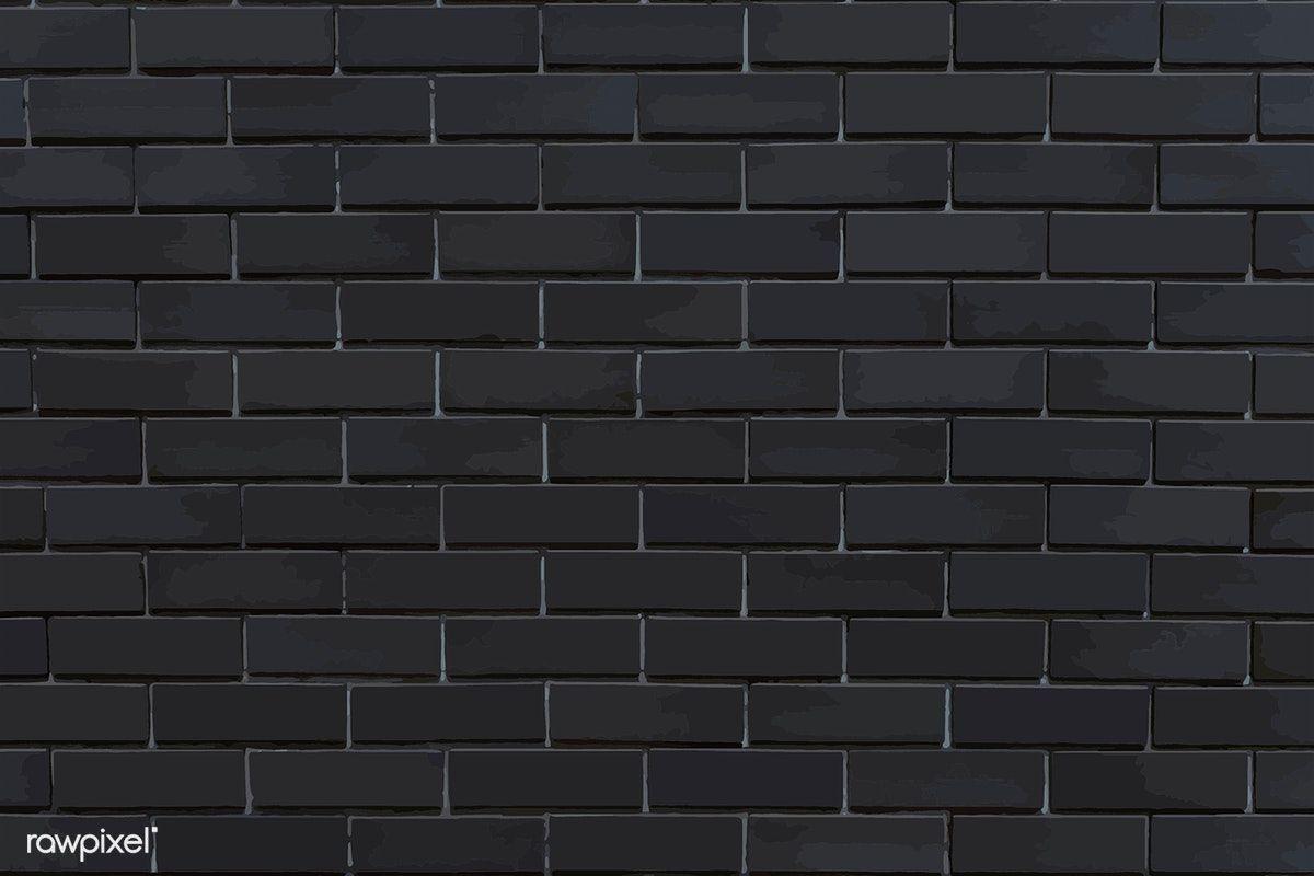 Dark Gray Brick Textured Background Vector Free Image By