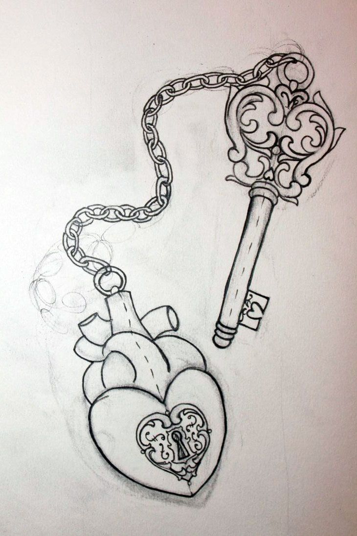 Heart And Key Tattoo Designs For Couples Jpg 730 215 1095