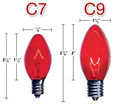 c7 and c9 light bulbs size comparison c9 christmas lights halloween christmas christmas holidays