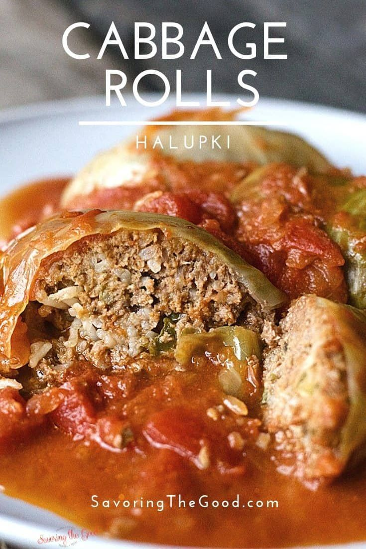 One of the comfort foods of my youth are stuffed cabbage rolls, also called Halu...,  One of the comfort foods of my youth are stuffed cabbage rolls, also called Halu...,