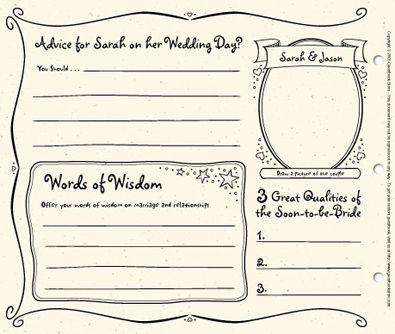 Bridal Shower Guest Book Template | The Guestbook Scrapbook