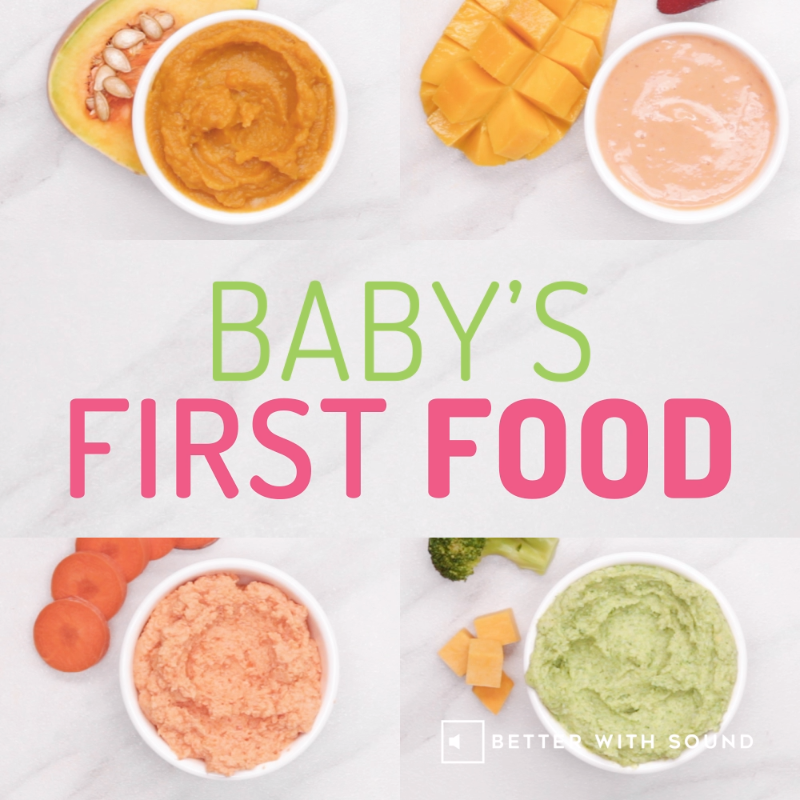 If you and your baby are entering the messy world of solids, give these healthy first food recipes a try! #Babyfood #easyrecipes
