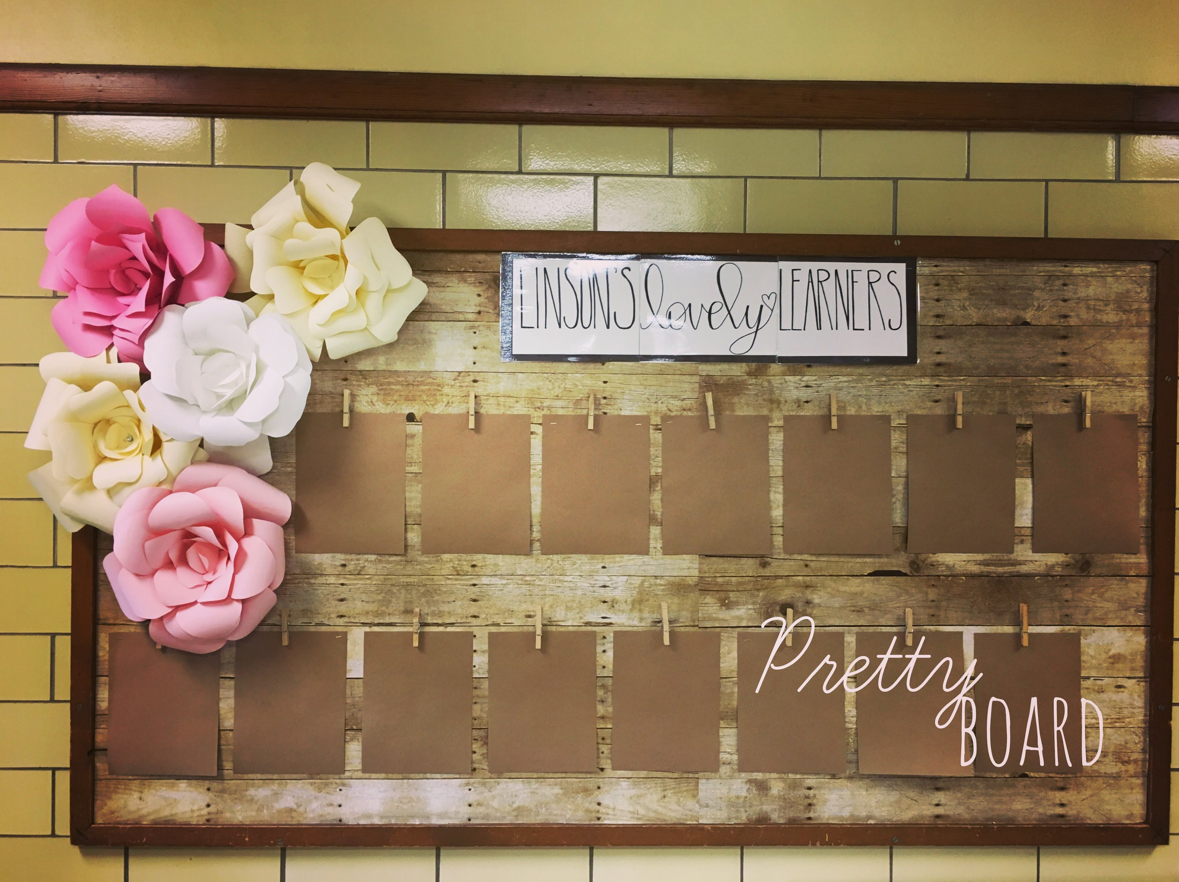 Farmhouse Style Pretty Bulletin Board Wouldn T It Be Great To Have